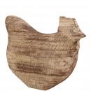 groothandel Woondecoratie: Houten kip Blair, L20cm, W10cm, H17cm, naturel